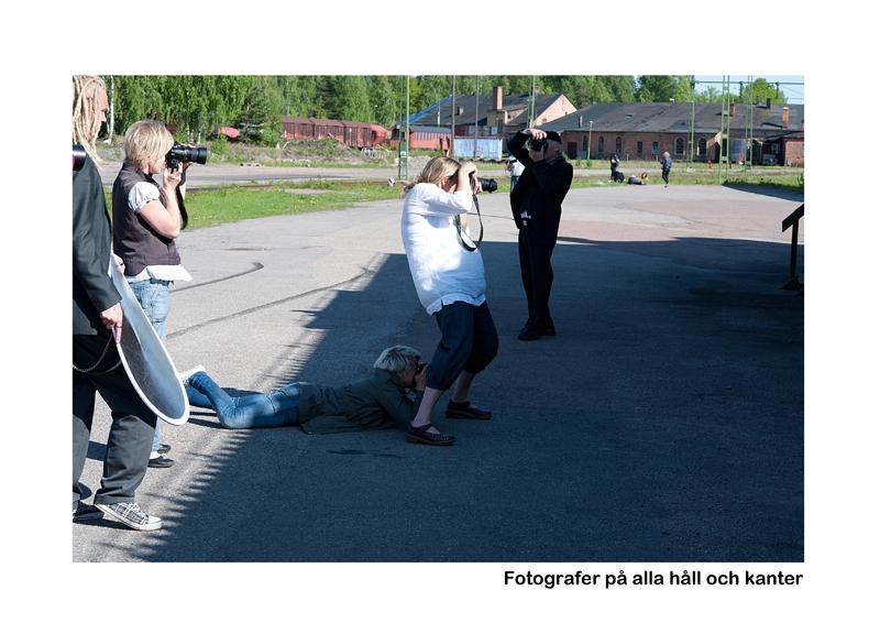 Fotografer på alla håll och kanter